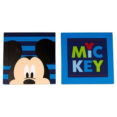 Disney Mickey 2 Pack Canvas Wall Art