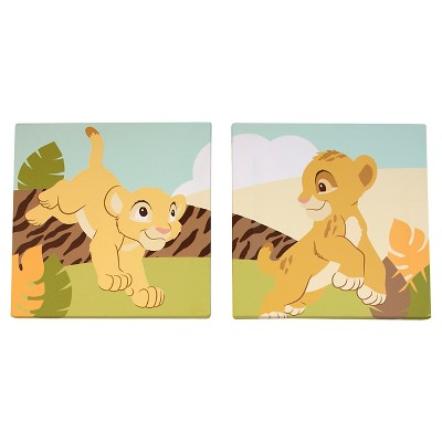 Disney Lion King Canvas Art (2pk)