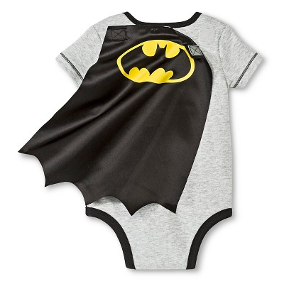 Batman Baby Boys' Muscle Caped Bodysuit - Black 0-3 M, Infant Boy's
