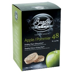 Apple Bisquettes Pack Of 48 Smoker Box - Bradley Smoker