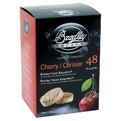 Bradley Smoker Cherry Bisquettes 48 Pack Smoker Box - Bradley Smoker