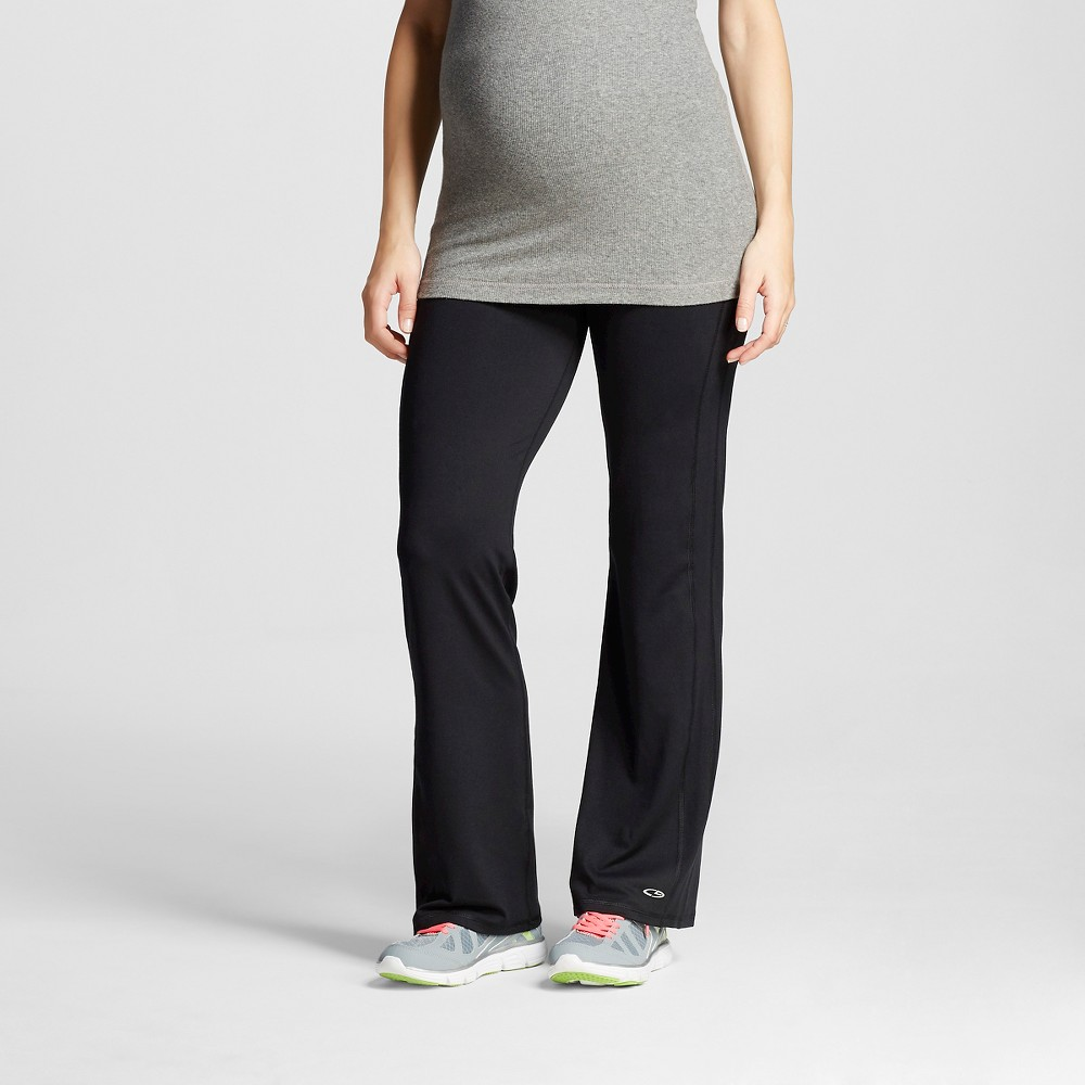 Womens Maternity Over the Belly Performance Yoga Pants - Black M - C9 Champion