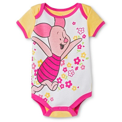 Baby Girls' Disney Piglet Bodysuit - Yellow 6-9M