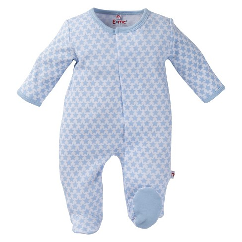 E=MC2 Boys' Footed Sleepers - Blue - image 1 of 2