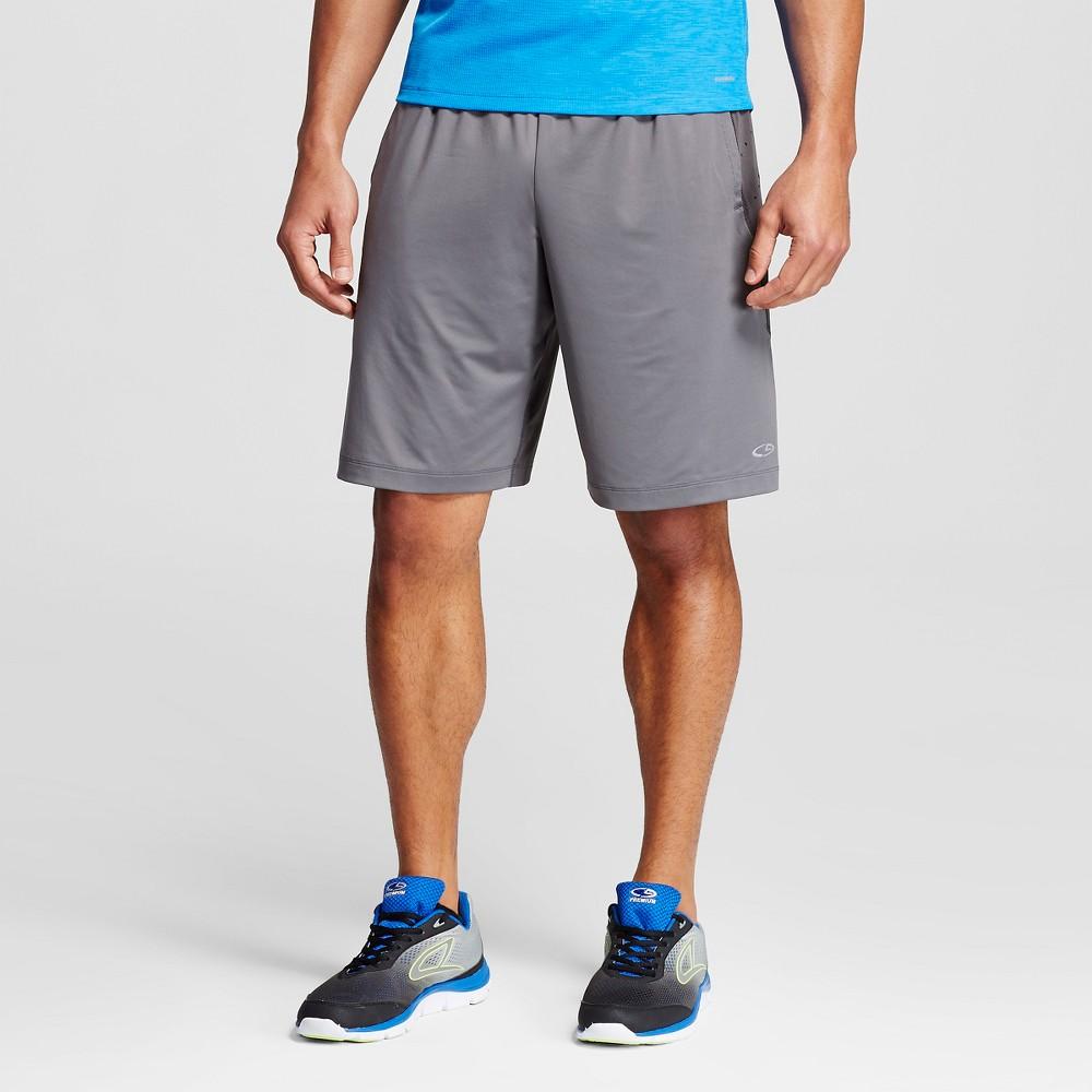 Mens Premium Training Vent Shorts - C9 Champion Thundering Gray Xxl