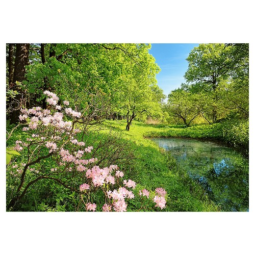 Art.com Wall Mural - Park In The Spring, Green