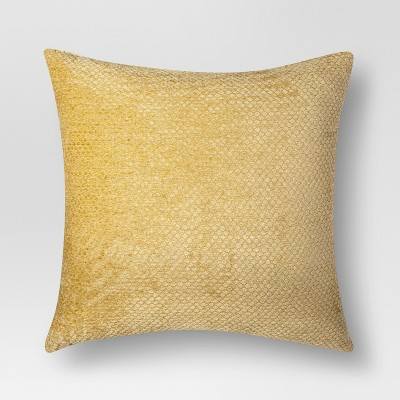 Gold Chenille Oversized Throw Pillow (24 X24 )- Threshold™