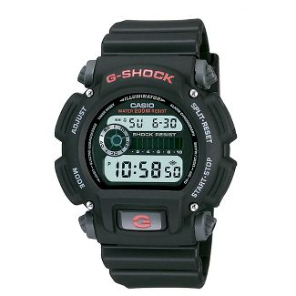 Casio Mens Digital Black and Grey Resin Strap G-Shock Watch DW9052-1V