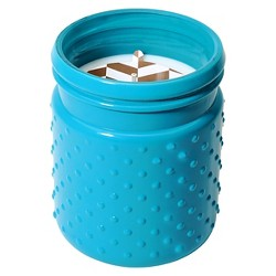 Hobnail Glass Candle Toasted Coconut 16.8oz - Soho Brights