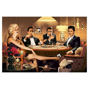 Art.com Wallpaper Mural - Four of a Kind, Marilyn Monroe James Dean Elvis Presley Humphrey Bogart, Multi-Colored