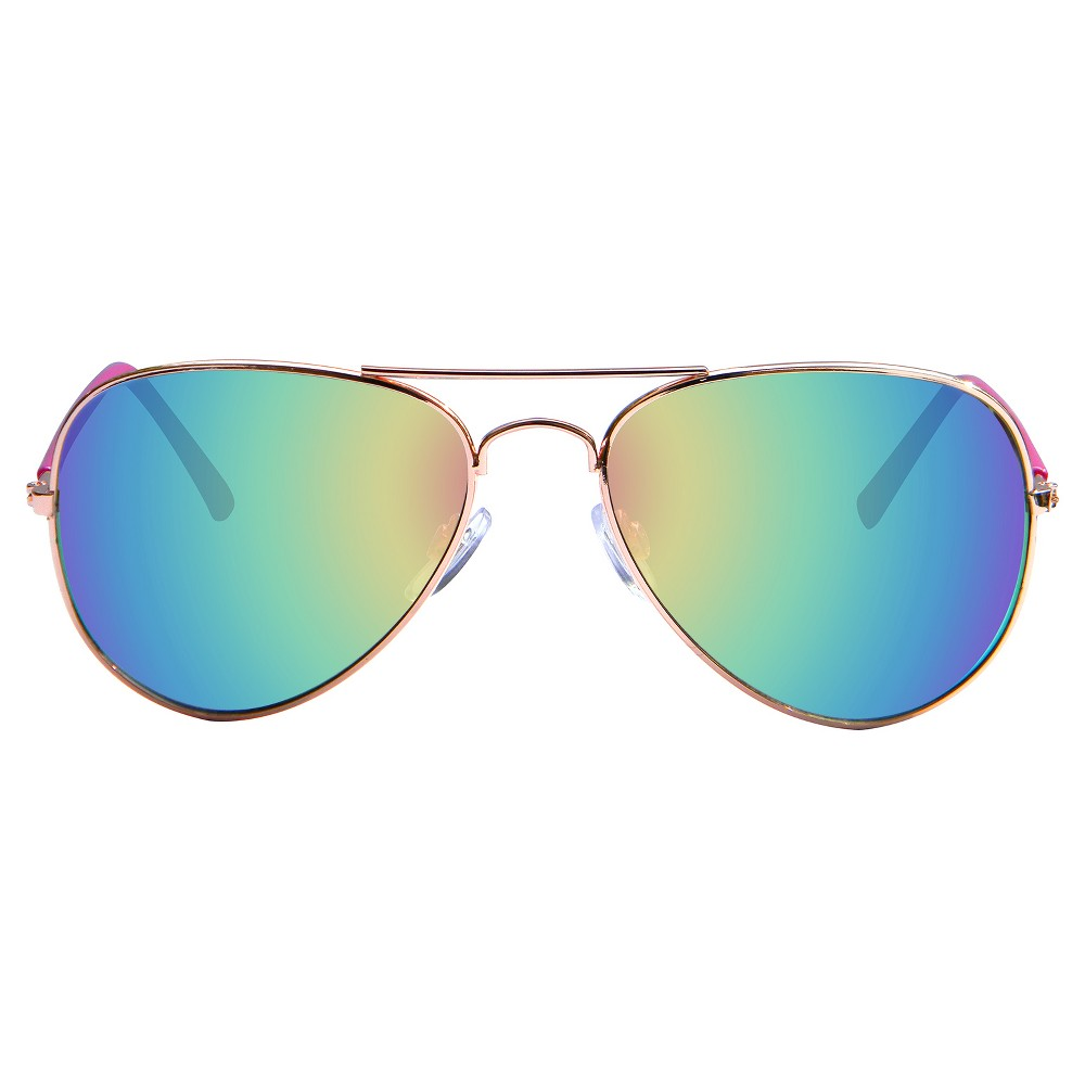 Womens Aviator Sunglasses - Gold