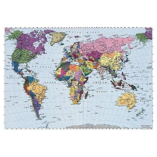 Wallpaper Mural World Map Target