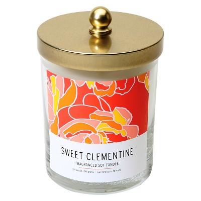 Lidded Glass Candle Sweet Clementine 8.6oz - Soho Brights