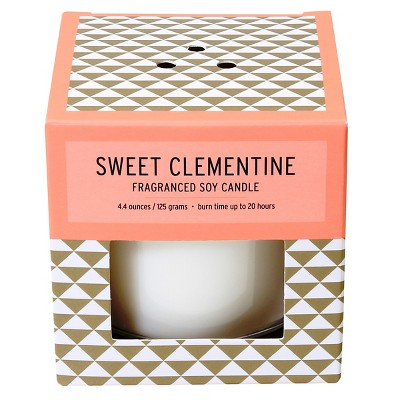 Boxed Glass Candle Sweet Clementine 4.4oz - Soho Brights