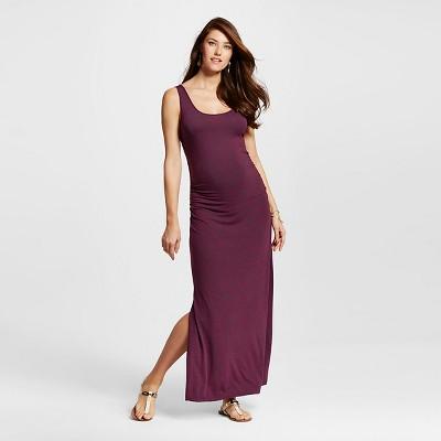 Maternity Spacedye Maxi Tank Dress Fuchsia Red L - Liz Lange® for Target