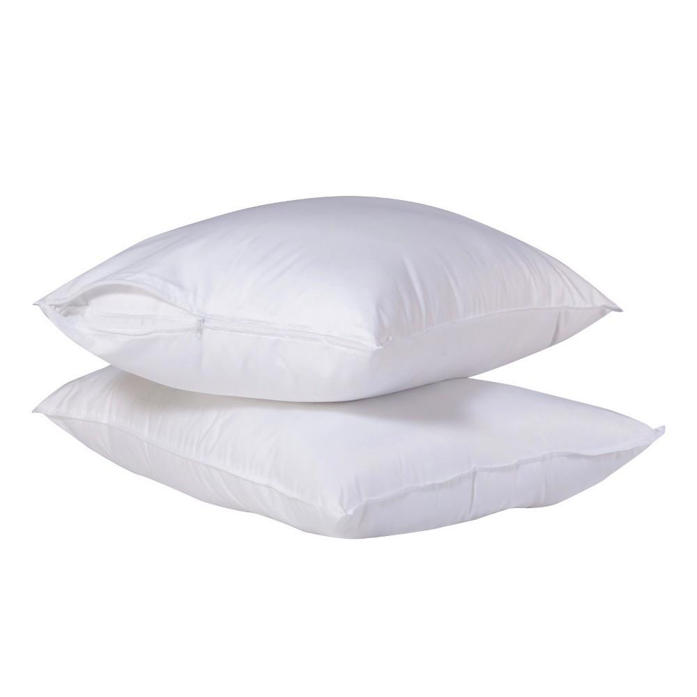 SlumberTech MicronOne Allergen Barrier Cover Jumbo Pillow Protector 2pk, White