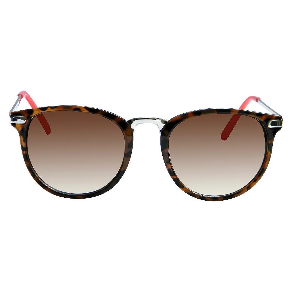 Round Sunglasses - Brown, Womens