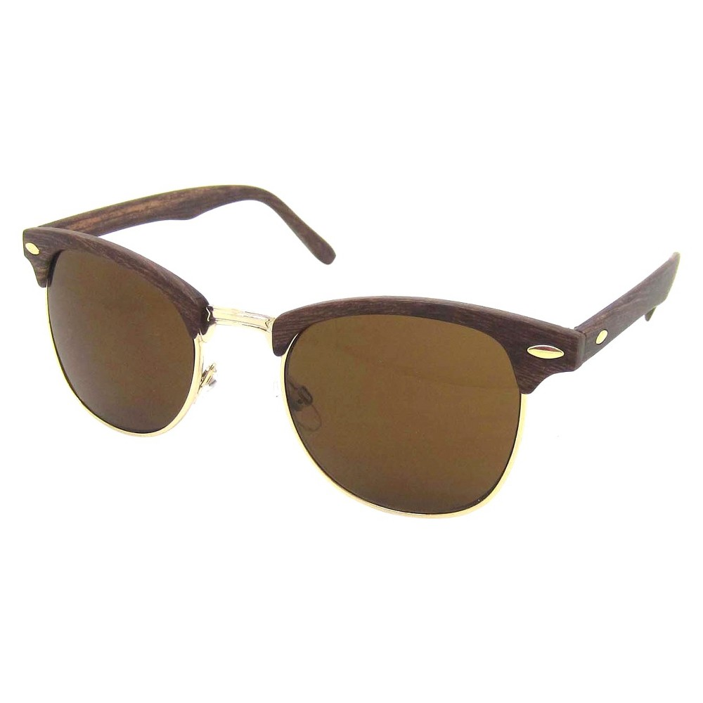 Retro Sunglasses - Wood, Adult Unisex, Brown