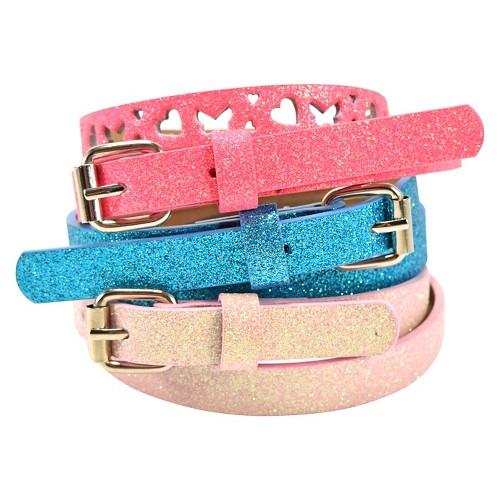 Girls' Sugar Belt 3 pk Cat & Jack - Multicolored L, Girl's