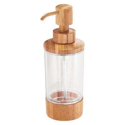 Formbu Soap Pump Dispenser Clear/Bamboo 10oz - InterDesign®