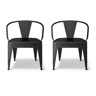 Industrial Kids Activity Chair Matte Black (Set of 2)- Pillowfort™