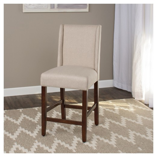 Charlie Counter Stool Cream With Nailheads Target