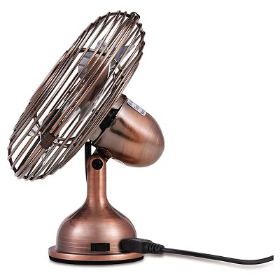 Holmes® Metal Desk Fan, USB Connected, Small, Bronze (HNF0466 CT)