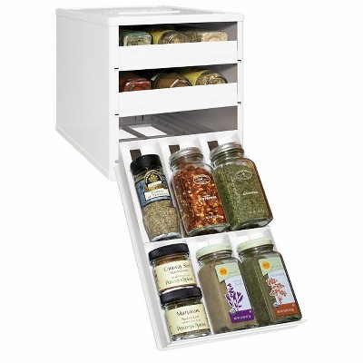 YouCopia Original SpiceStack® 18 Bottle Spice Organizer with Universal Drawers - White