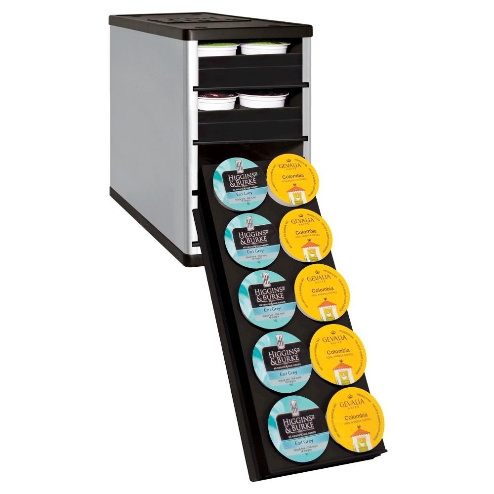 YouCopia CoffeeStack 40 K-Cup Cabinet Organizer - Silver