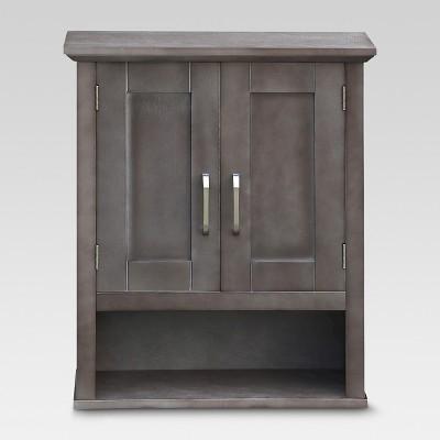 Wood Wall Cabinet Gray - Threshold™