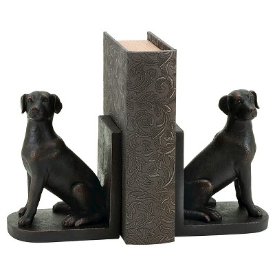 Library Polystone Dog Bookend (8 x6 )