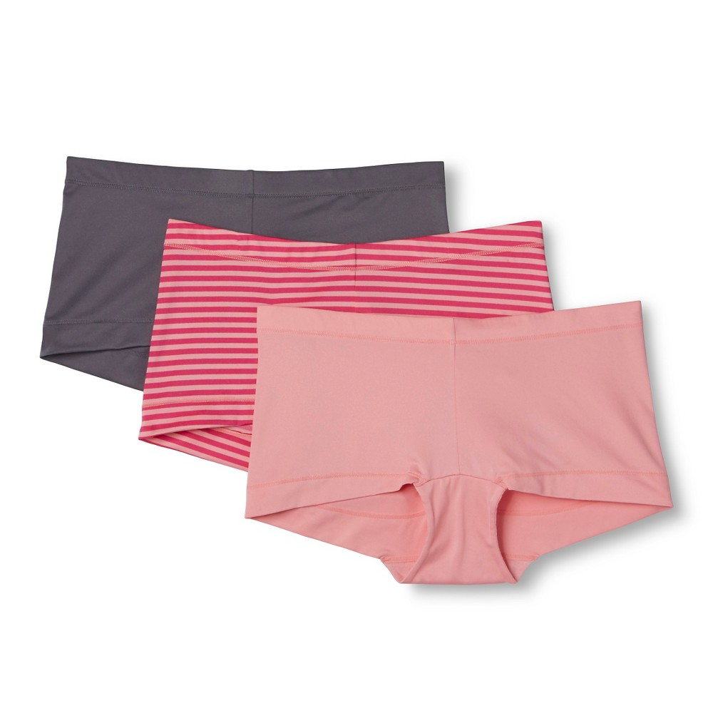 Maidenform Self Expressions Womens 3-Pack Boyshorts - Multi-Colored L, Gray