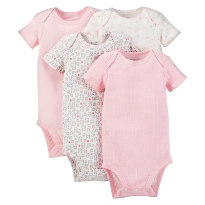 PRECIOUS FIRSTS™Made by Carter's® Baby Girls' Bodysuit 4 Pack – Pink