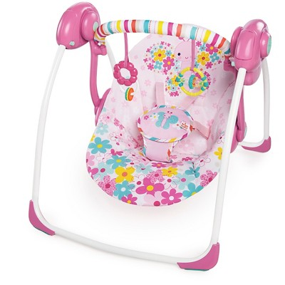Bright Starts™ Pretty in Pink™ Butterfly Cutouts Portable Swing
