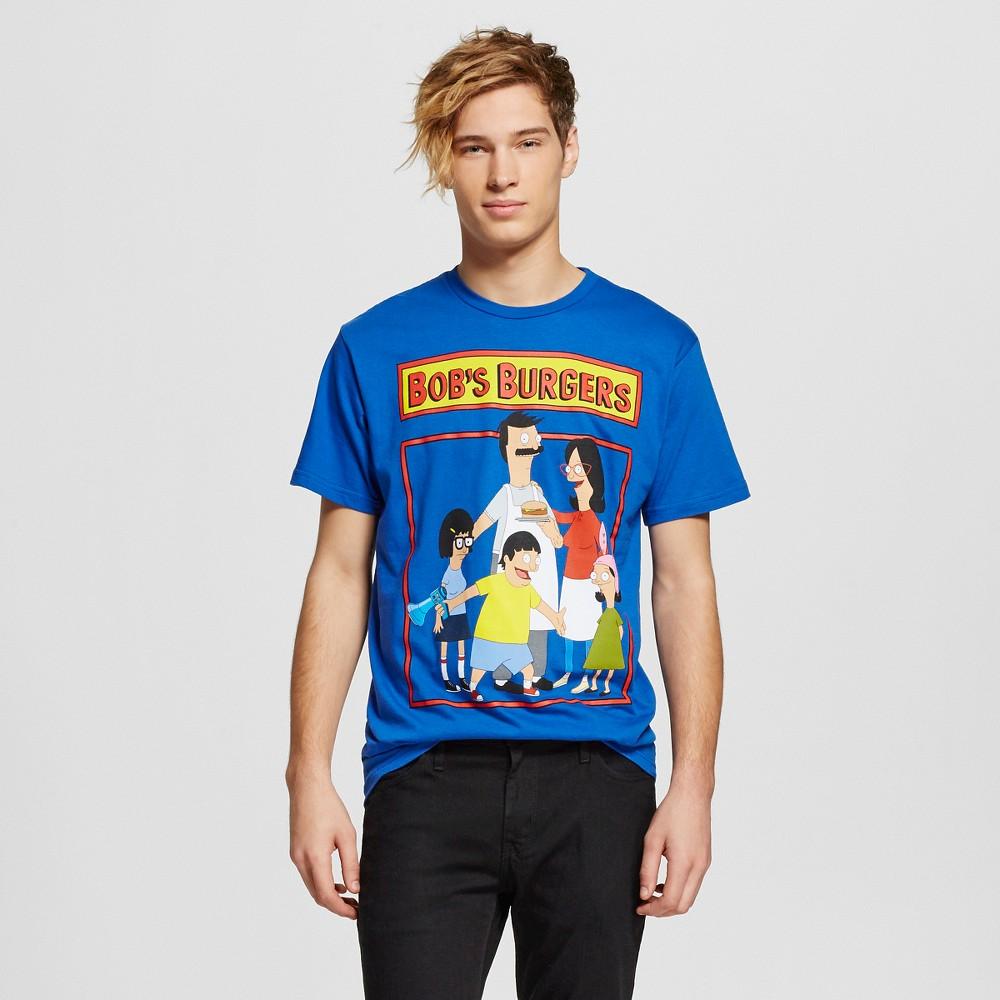 Mens Bobs Burgers T-Shirt Blue Large