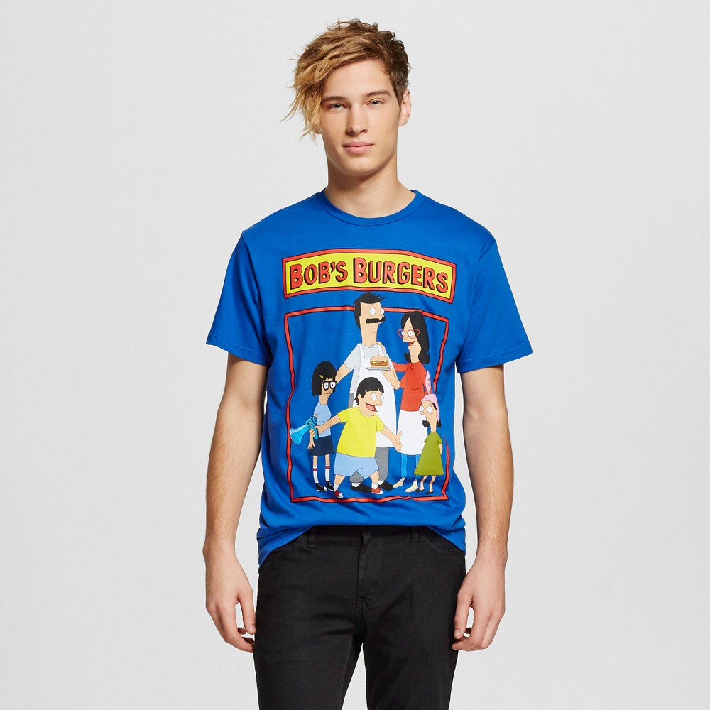 Mens Bobs Burgers T-Shirt Blue XXLarge, Size: Xxl