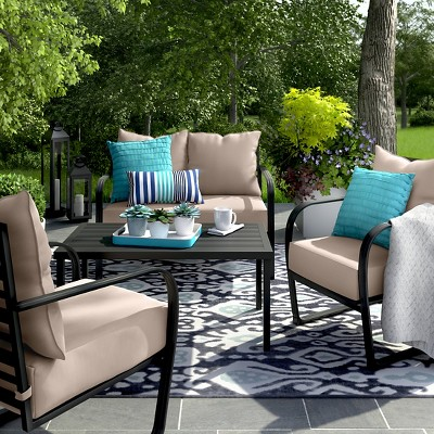 Ft. Walton 4-Piece Motion Patio Seating Set - Tan - Project 62™