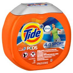 Tide PODS + Febreze 4 in 1 Odor Defense Active Fresh Scent Laundry Detergent Pacs - 54 ct