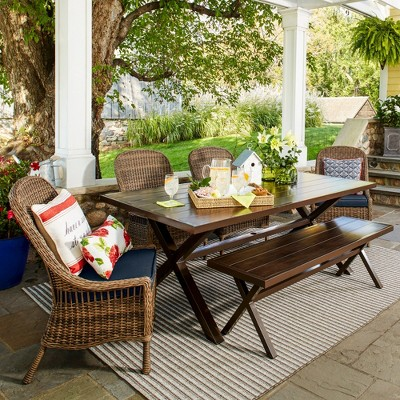 Mayhew 6pc All Weather Wicker Dining Set   Threshold™