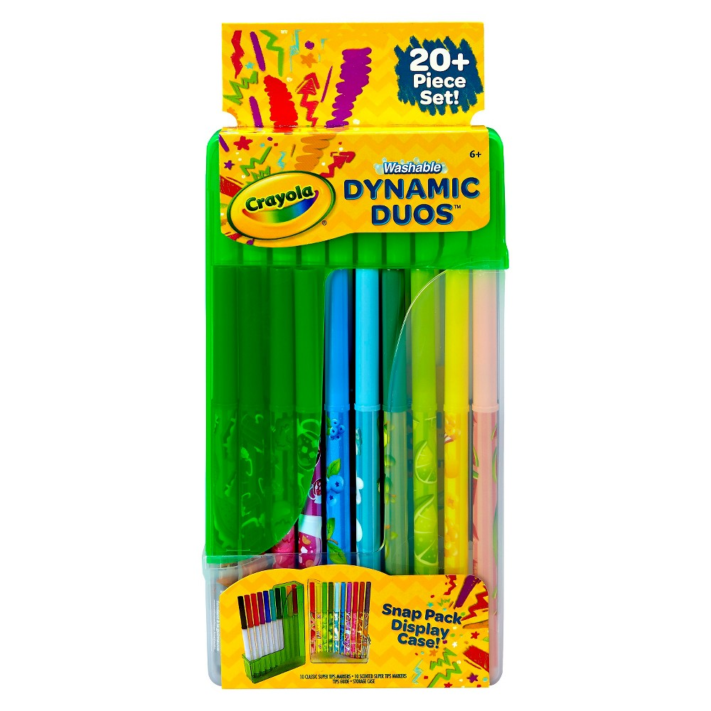 Crayola Markers Dynamic Duos Washable 10ct, Multi-Colored