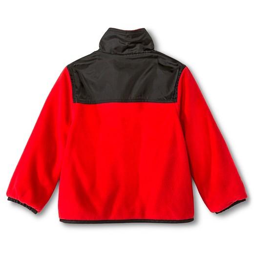 Weather Tamer Toddler Boys' Reversible Fleece Jacket - Red : Target