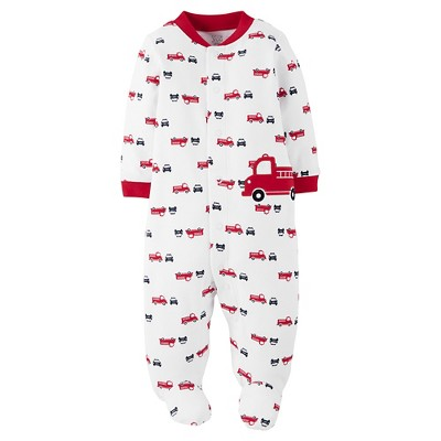 Just One You™ Made by Carter's® Baby Boys' Firetruck Sleep N' Play - White/Red 3M