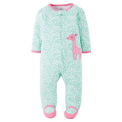 Just One You™ Made by Carter's® Baby Girls' Giraffe Sleep N' Play - Mint/Pink 6M
