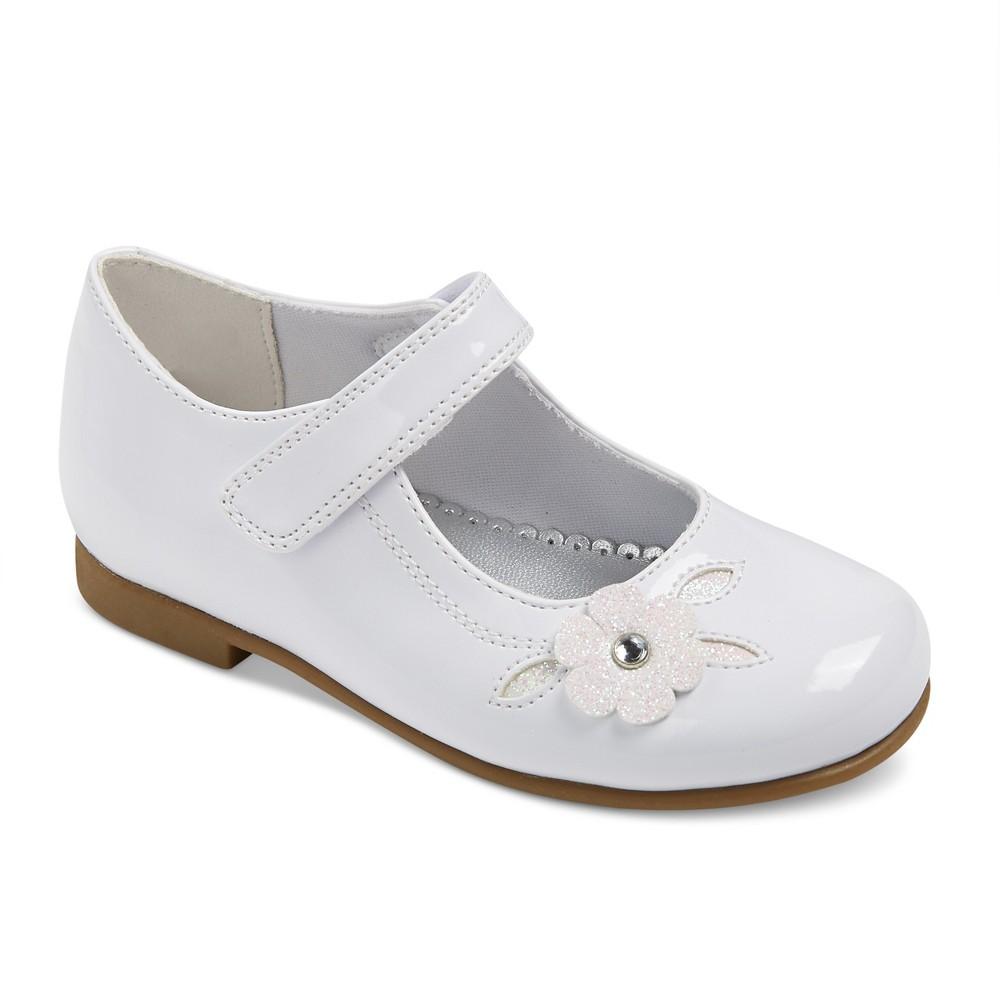 Toddler Girls Rachel Shoes Lil Charlene Floral Dress Ballet Flats - White 7
