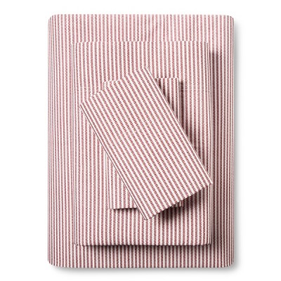 Classic Percale Sheet Set (King)Stripe Red 300 Thread Count - Threshold™