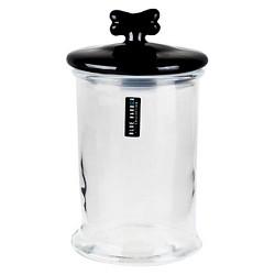 Houseware International Glass Jar With Black Bone Ceramic Lid