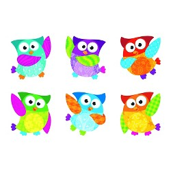 TREND Classic Accents Variety Pack, Owl-Stars, 6 x 7.88