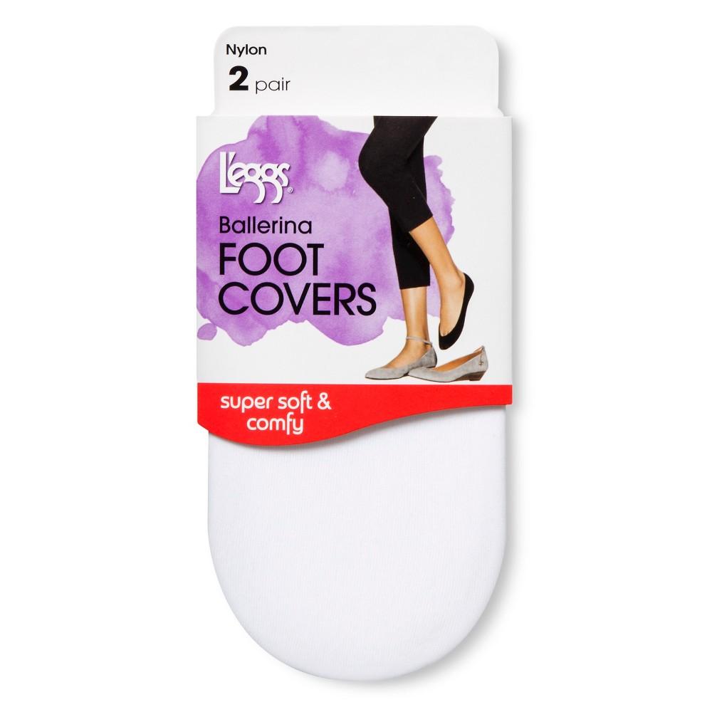 Leggs Womens Ballerina Foot Cover - White S/M