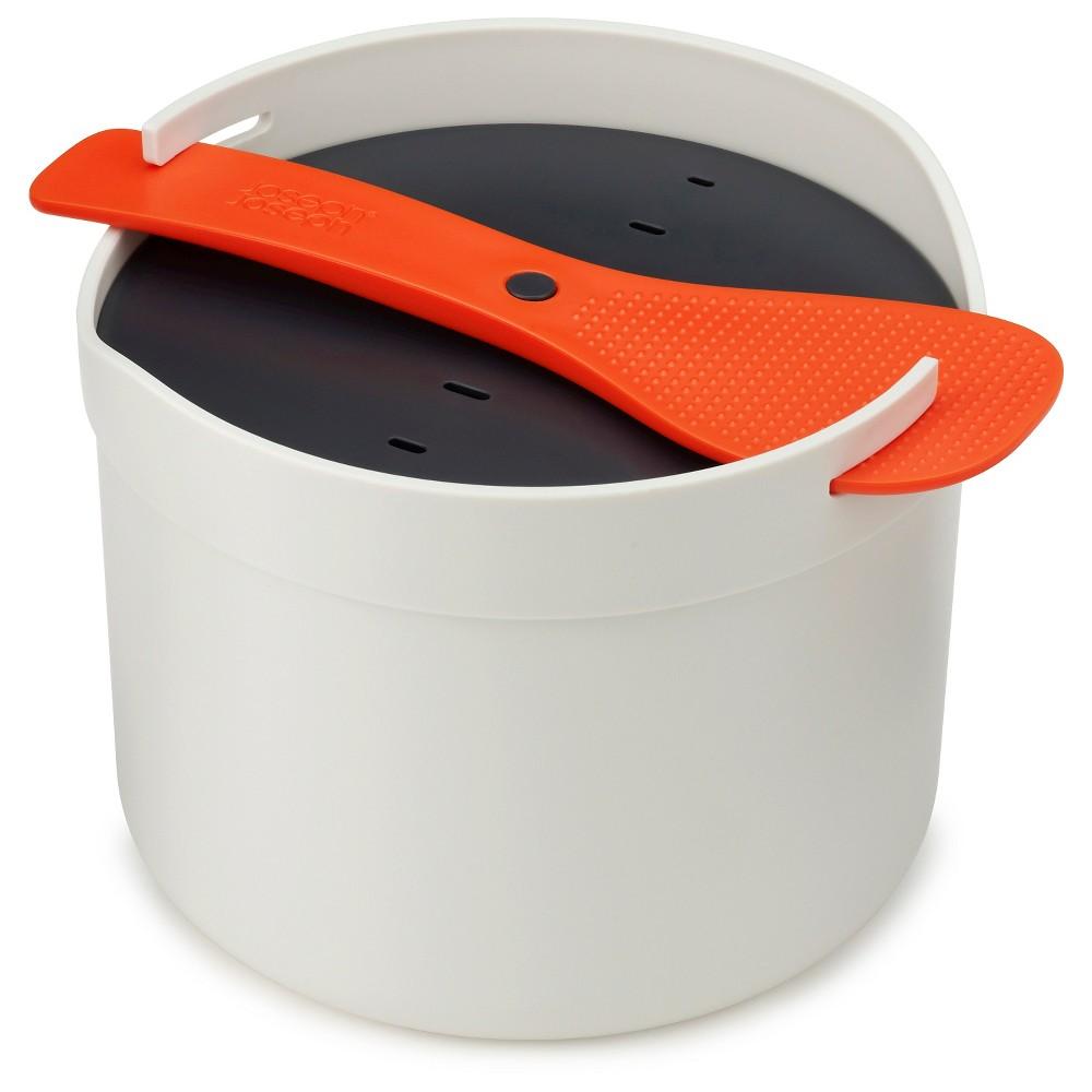 Joseph Joseph M-Cuisine Microwave Rice Cooker – Orange/Stone, Grey/Orange
