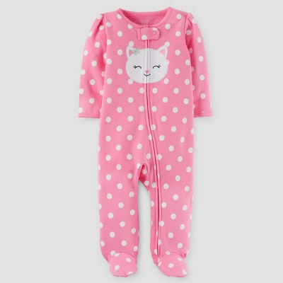 Just One You™ Made by Carter's® Baby Girls' Sleep N Play Footed Sleepers - Pink NB
